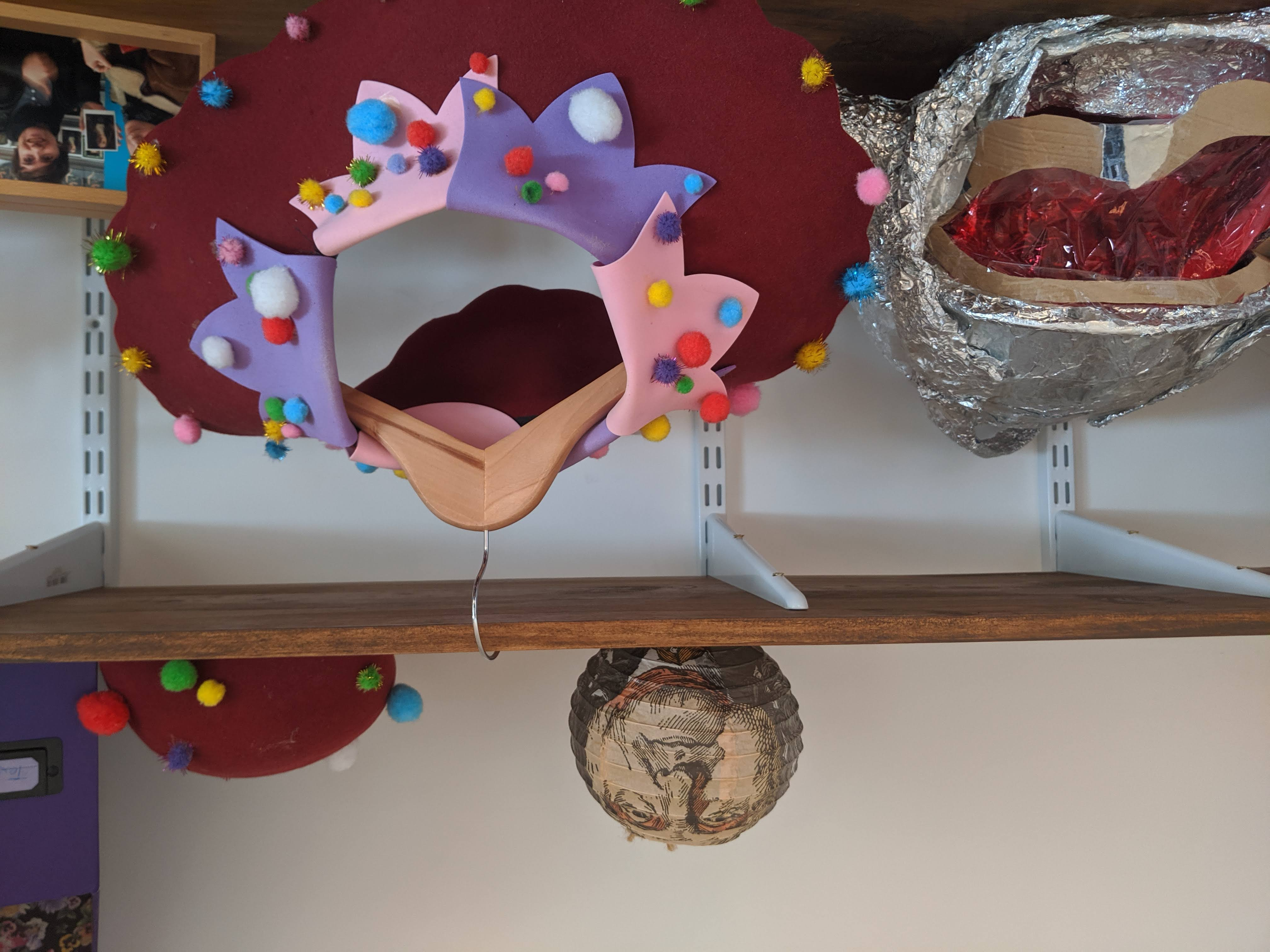 Photograph of clown paraphelania in Abi Palmer's flat